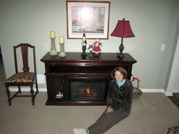 empire cherry a console electric fireplace cabinet mantel heater brands best reviews cnet