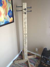 Do It Yourself Coat Rack Coat Rack Out of Scrap Coat tree Railroad spikes and Hardware 55