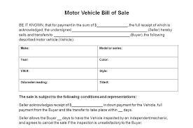 Vehicle Bill Of Sale Template Fascinating Bill Of Sale Template Canada Tangledbeard