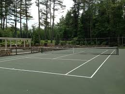 Post Tensioned Tennis Court Design Tennis Court Construction Backyard Court Builders