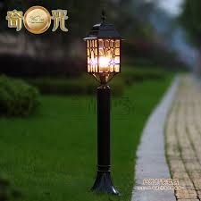 europe style classical led lawn lamp garden lights waterproof lamp vintage outdoor column light 110v