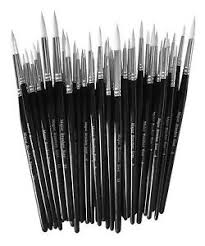 paint brush sets. image is loading packs-of-10-white-sable-artist-paint-brush- paint brush sets