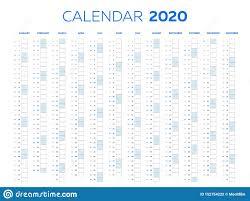 2020 Calendar Editable The 2020 Calendar Template With Classical Monthly Columns
