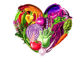 fruit and vegetables heart. Unique Heart Think Color And Variety For American Heart Month On Fruit And Vegetables R