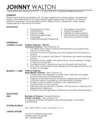 Software Engineer Resume Best Example Livecareer It Classic Resumes ...