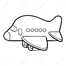 coloring book for children airplane stock vector 75011236