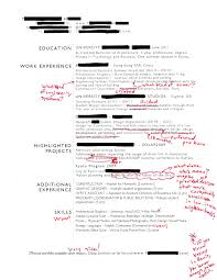 Intern 101 Redlined Resumes Tell Me More Tell Me More