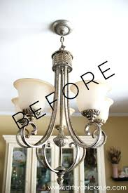 update chandelier how to paint light fixtures with this simple trick update old brass chandelier update