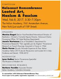 holocaust remembrance looted art nazism and fascism italian  holocaust remembrance looted art nazism and fascism italian academy for advanced studies columbia university