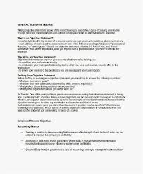 Objective Resume Statements Examples Example Objective For Resume