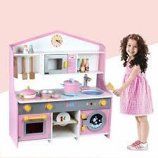 s m l kids pink white wooden play kitchen children s play pretend set