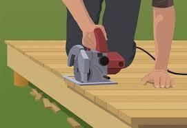 trim deck straight line build ground level deck