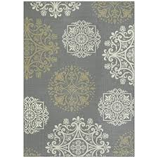 maples rugs area hazel 7 x 10 non slip large rug made in usa for living bedroom and dining room grey neutral