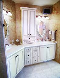 Traditional White Bathrooms White Marble Counter Top With Double Sink Bath Vanity Bathroom