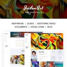 art portfolio template jaden art art portfolio joomla template design art pinterest
