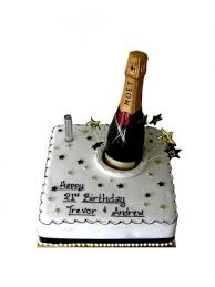 7 Birthday Cakes With Champagne Bottle Photo Birthday Cake With