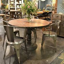 industrial kitchen table furniture. Industrial Round Dining Table French Soda Fountain Room Kitchen Furniture T