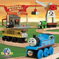fun train toy thomas and friends wooden railway percy at the selworks set track layout building
