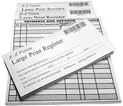 Amazon Com Large Print Checkbook Register Low Vision 2019 2020