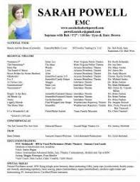 sample resume for musical audition audition resume format