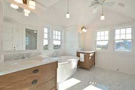 White Shiplap And A Custom Vaulted Ceiling With Hanging Pendant ...
