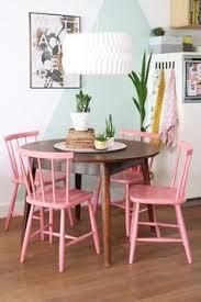eetkamerstoelen roze set van 4