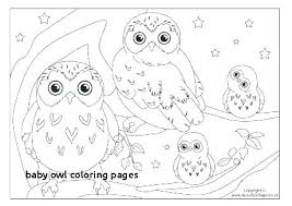Owl Coloring Pages For Kids