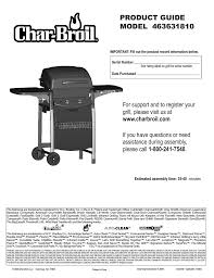 Char Broil Lighting Instructions Char Broil 463631810 Product Guide Manualzz Com