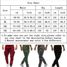 Size Chart For Mens Joggers Details About Mens Camouflage Camo Cargo Army Pants Harem Joggers Sport Sweatpants Trousers