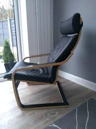 poang leather chair modern black ather armchair as new for sa in woods ikea poang leather chair cover