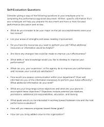 Free Self Evaluation Examples Appraisal Performance Review