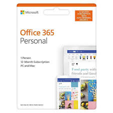 Windows 365 Office Office 365 Personal 1 Person 12 Month Subscription Auto Renew Android Chrome Mac Windows Ios