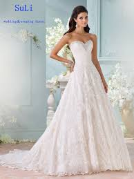 FF31 <b>New</b> Charming A-Line <b>Sweetheart Lace</b> Appliques Wedding ...