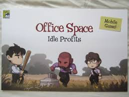 office space memorabilia. Office Space Idle Profits Mobile Game 2017 Comic-Con Exclusive Poster Memorabilia