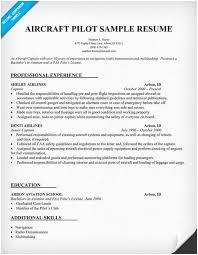 Pilot Resume Template Simple Pilot Resume Pilot Resume Template 40 Free Word Pdf Document