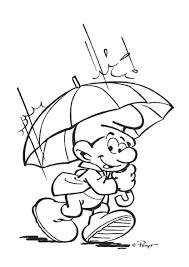Kleurplaat Smurf In De Regen Smurfs Kleurplaten De Smurfen En