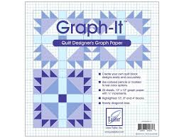 June Tailor Graph It Quilt Designers Graph Paper 20 Pc