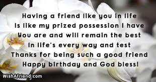 Birthday Quotes For Friend Adorable Having A Friend Like You In Best Friend Birthday Quote