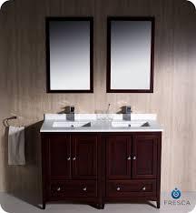 traditional double sink bathroom vanities. Two Sink Bathroom Vanities With Nice Fresca Oxford 48 Double Vanity Mahogany Finish Traditional