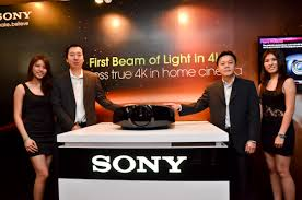 sony 4k projector. world\u0027s first 4k projector by sony launched in malaysia. from l-r: sek jin han (2nd left), senior executive, business 4k