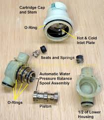 delta shower cartridge rp19804 disassembly lower housing how to adjust a shower valve water temperature with photos includes a tear down of the old