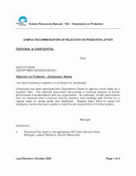 Letter Of Termination Of Employment During Probationary Period