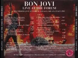 Przez johna bongiovi (później jon bon jovi) w new jersey. Bon Jovi Bon Jovi Bon Jovi Bon Jovi Live Live Live Recordings Cdr Trading