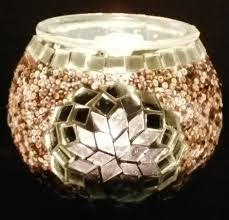 turkish ottoman style authentic handmade mosaic glass candle holder canada otantik el yapimi mozaik cam
