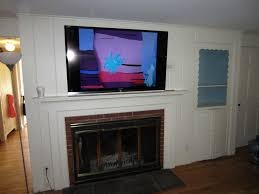 install tv above fireplace hide wires adorable how to hide tv wires over brick fireplace best