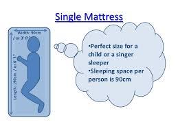 Single Mattress Width: ...