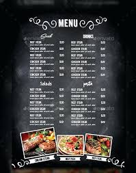 Free Catering Menu Templates For Microsoft Word Menu Template For Word Wsopfreechips Co