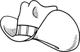 Cowboy Hat Coloring Pages Getcoloringpagescom