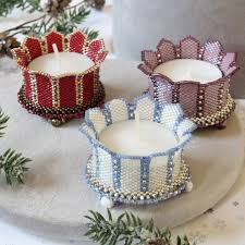 Beaded Tea Light Candle Holders Beading Pattern Candle Holder Turrets Trinkets Beading