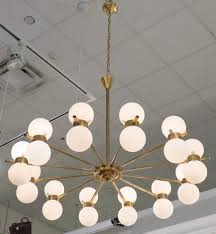 Chandeliers Design : Marvelous Stilnovo Vintage Brass Glass Globe  Chandelier Globes Style Twelve Arm Jean Marc Fray Pendant Shades Dome Light  Shade Cheap ...